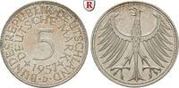 5 DM 1957 D Klein- und Kursmünzen 5 DM 1957, D. J.387. vz  34.23 £ 45,00 EUR  +  7.61 £ shipping