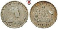 Shilling 1910 Australien Edward VII., 1901-1910 s-ss  11.72 £ 15,00 EUR