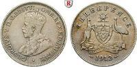 3 Pence 1912 Australien George V., 1910-1936 ss  11.41 £ 15,00 EUR  +  7.61 £ shipping