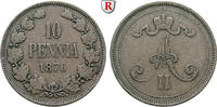 10 Penniä 1876 Finnland Unter russischer Herrschaft, Alexander II., 185... 25.57 £ 30,00 EUR  +  8.52 £ shipping