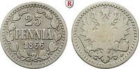25 Penniä 1866 Finnland Unter russischer Herrschaft, Alexander II., 185... 34.09 £ 40,00 EUR  +  8.52 £ shipping
