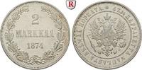 2 Markkaa 1874 Finnland Unter russischer Herrschaft, Alexander II., 185... 25.57 £ 30,00 EUR  +  8.52 £ shipping