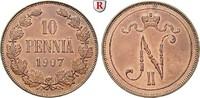 10 Penniä 1907 Finnland Unter russischer Herrschaft, Nikolaus II., 1894... 42.61 £ 50,00 EUR  +  8.52 £ shipping