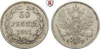 50 Penniä 1911 Finnland Unter russischer Herrschaft, Nikolaus II., 1894... 34.09 £ 40,00 EUR  +  8.52 £ shipping
