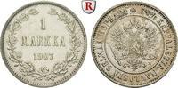 Markka 1907 Finnland Unter russischer Herrschaft, Nikolaus II., 1894-19... 25.57 £ 30,00 EUR  +  8.52 £ shipping
