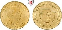10 Pa´anga 1980 Tonga Taufa´ahau Tupou IV., 1965-2006, Gold, 0,40 g st  34.09 £ 40,00 EUR  +  8.52 £ shipping