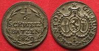 1820 Schweiz - Graubünden Swiss GRAUBUNDEN Canton 1/6 Batzen 1820 bill... 120.12 £ 139,99 EUR  +  5.58 £ shipping