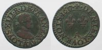 Frankreich  1617 ss-vz FRANCE Denier Tournois 1617 A-PARIS LOUIS XIII co... 60.73 £