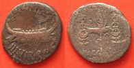 Roman Republic  -32/-33 f.ss MARK ANTONY AR Denarius 32-31 BC Galley / A... 85.94 £