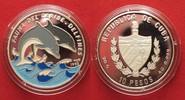 1994 Kuba CUBA 10 Pesos 1994 Dolphines CARIBBEAN FAUNA silver 20g COLO... 19.55 £24,99 EUR13.68 £ 17,49 EUR  +  3.91 £ shipping