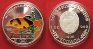 1996 Nordkorea NORTH KOREA 500 Won 1996 Lown loach FISHES silver 1 oz ... 57.07 £ 74,99 EUR  +  3.81 £ shipping