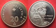 2011 Schweiz SWITZERLAND 20 Francs 2011 MAX FRISCH silver Proof # 9396... 43.37 £ 56,99 EUR  +  3.81 £ shipping