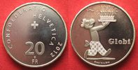 2012 Schweiz SWITZERLAND 20 Francs 2012 GLOBI silver Proof # 93969 PP  34.24 £ 44,99 EUR  +  3.81 £ shipping