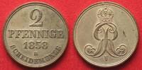 1858 Hannover, Königreich HANNOVER Kingdom 2 Pfennig 1858 B GEORGE V -... 128.70 £ 149,99 EUR  +  5.58 £ shipping