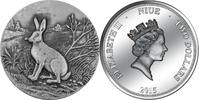 2015 Niue SWISS WILDLIFE - MOUNTAIN HARE 2 $ 2015 high relief silver 1... 76.93 £ 99,99 EUR