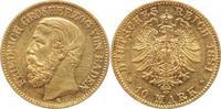 10 Mark Gold 1881  G Baden Friedrich I. 18...