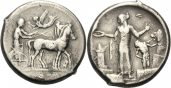 SIZILIEN, HIMERA Tetradrachmon 440 v. Chr....