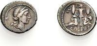 Denar 46-45 v. Chr. ROM, IMPERATORISCHE PRÄGUNGEN JULIUS CAESAR Sehr sc... 469.35 £ 600,00 EUR  +  6.26 £ shipping