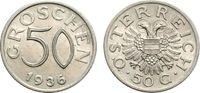50 Groschen 1936 ÖSTERREICH  Vorzüglich  83.41 £ 100,00 EUR  +  6.67 £ shipping