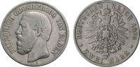 2 Mark 1876 BADEN  Schön  33.36 £ 40,00 EUR  +  6.67 £ shipping