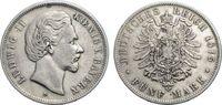 5 Mark 1875 BAYERN  Sehr schön  57.12 £ 70,00 EUR  +  6.53 £ shipping