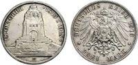 3 Mark 1913 SACHSEN Völkerschlachtdenkmal Vorzüglich-Stempelglanz  29.27 £ 35,00 EUR  +  6.69 £ shipping