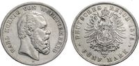 5 Mark 1876 WÜRTTEMBERG  Sehr schön  83.63 £ 100,00 EUR  +  6.69 £ shipping