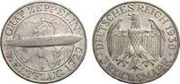 3 Mark 1930 F WEIMARER REPUBLIK Zeppelin Vorzüglich  83.63 £ 100,00 EUR  +  6.69 £ shipping