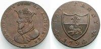 Halfpenny-Token 1794 ENGLAND John of Gaunt Sehr schön  24.48 £ 30,00 EUR  +  6.53 £ shipping