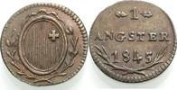 Cu-Angster 1843 SCHWYZ  Vorzüglich  15.73 £ 20,00 EUR