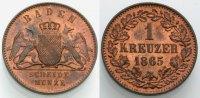 Kreuzer 1865 BADEN  Vorzüglich-Stempelglanz  12.24 £ 15,00 EUR  +  6.53 £ shipping