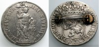 HOLLAND 2 Gulden 1687 gelocht und broschiert  85.38 £