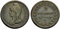 2 Décimes 1796 FRANKREICH DIRECTOIRE.  Sehr schön  187.67 £ 230,00 EUR  +  6.53 £ shipping