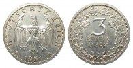 3 Mark Kursmünze 1931 G Weimarer Republik  kl. Randfehler, vorzüglich  308.55 £ 395,00 EUR