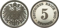5 Pfennig 1910 E PCGS certified  PCGS PR67 DCAM  308.55 £ 395,00 EUR