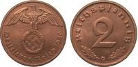 2 Pfennig 1940 G PCGS certified  PCGS MS65RD  464.78 £ 595,00 EUR