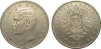 5 Mark Bayern 1888 D Kaiserreich  kl. Rf., Bildseite vz, Adlerseite vz/St  933.46 £ 1195,00 EUR