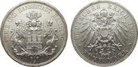 5 Mark Hamburg 1896 J Kaiserreich  wz. Kratzer, fast Stempelglanz  2304.37 £ 2950,00 EUR