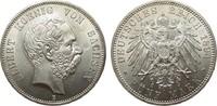 5 Mark Sachsen 1894 E Kaiserreich  wz. Kratzer, fast Stempelglanz  1245.92 £ 1595,00 EUR