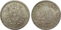 20 Pfennig 1877 F Kaiserreich  gutes vorzüglich  324.06 £ 385,00 EUR free shipping