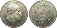 2 Mark Oldenburg 1891 A Kaiserreich  wz. Randfehler, vorzüglich / Stemp... 586.69 £ 750,00 EUR free shipping