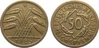 50 Reichspfennig 1925 E Weimarer Republik  sehr schön  1005.86 £ 1195,00 EUR free shipping