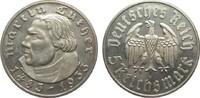 5 Mark Luther 1933 F Drittes Reich  min. berieben, polierte Platte  387.22 £ 495,00 EUR free shipping