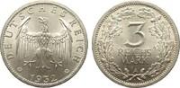 3 Mark Kursmünze 1932 A Weimarer Republik  vorzüglich / Stempelglanz  465.44 £ 595,00 EUR free shipping