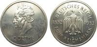 5 Mark Goethe 1932 D Weimarer Republik  l. berieben, kl. Kratzer, polie... 2329.14 £ 2795,00 EUR free shipping