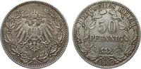 50 Pfennig 1900 J Kaiserreich  fast vorzüglich  279.16 £ 335,00 EUR free shipping
