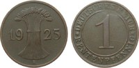 1 Rentenpfennig 1925 A Weimarer Republik  sehr schön / vorzüglich  1999.98 £ 2400,00 EUR free shipping