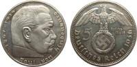 5 Mark Hindenburg mit Hk. 1936 D Drittes Reich  kl. Kratzer, polierte P... 290.39 £ 345,00 EUR free shipping