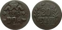 20 Heller 1916 T Kolonien und Nebengebiete  sehr schön / vorzüglich  231.47 £ 275,00 EUR free shipping