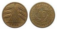 10 Pfennig 1932 G Weimarer Republik  gutes sehr schön  904.85 £ 1075,00 EUR free shipping